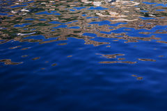 Blue ocean water reflections. Reflections on the ocean on a summer day Stock Image