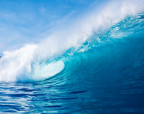 Blue Ocean Wave royalty free stock photos