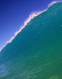 Blue Ocean Wave and Blue Sky in Hawaii Stock Photography