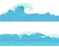 Blue Ocean Wave, giant wave Stock Images