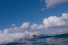 Blue Ocean Wave Stock Image