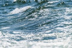 Blue Ocean with waves and clear blue sky Blue water surface royalty free stock images