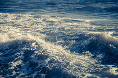 Blue ocean waves outdoor photography | Beauty nature background Royalty Free Stock Photo