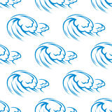 Blue ocean waves seamless pattern Royalty Free Stock Photography