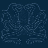 Blue Octopus Royalty Free Stock Photography
