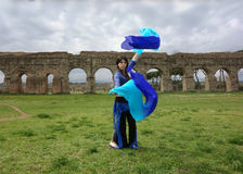 Blue odalisque Stock Photo