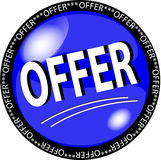 Blue Offer Button Royalty Free Stock Image