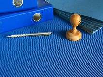 Blue office Stock Photo