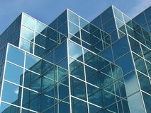 Blue Office Building stock image