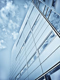 Blue office buildings Stock Photography