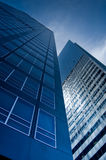 Blue Office Buildings Stock Photo