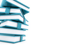 Blue office buletins books rendered. On white background Royalty Free Stock Photography