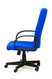 Blue office chair isolated Royalty Free Stock Photo