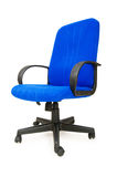 Blue office chair isolated Royalty Free Stock Image