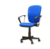 Blue office chair. Isolated Royalty Free Stock Photo