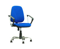 The blue office chair. Isolated Stock Photography