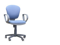 The blue office chair. Isolated Stock Photo