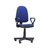 The blue office chair. Isolated Stock Images