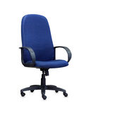 The blue office chair. Isolated Stock Image