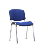 The blue office chair.  Royalty Free Stock Image
