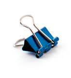 Blue office clamp Royalty Free Stock Image