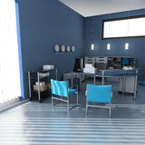 Blue office Royalty Free Stock Photo