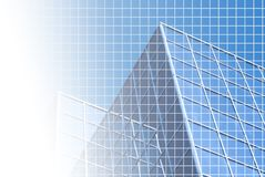 Blue office with grid royalty free illustration