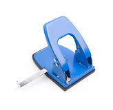 Blue office hole puncher Royalty Free Stock Photos