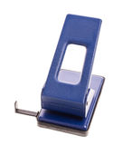 Blue office hole puncher. Royalty Free Stock Images