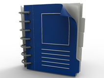 Blue office notebook Stock Images