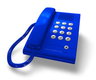 Blue office phone Royalty Free Stock Image