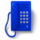 Blue office phone Royalty Free Stock Photos