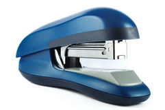 Blue office stapler isolated on white with clipping path Stock Photography