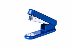 Blue office stapler. On a white background Royalty Free Stock Photos