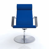 Blue office swivel chair Royalty Free Stock Photo