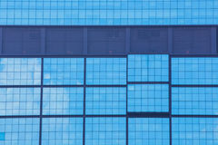 Blue office windows background Stock Photo