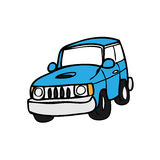 Blue offroad Royalty Free Stock Image