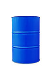 Blue oil barrel Stock Photos
