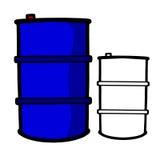 Blue Oil Barrel. Vector illustration : Blue Oil Barrel on a white background royalty free illustration