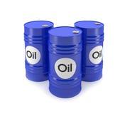 Blue oil barrels Stock Image