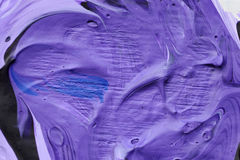 Blue oil colour. Stirred blue oil colour on painting pallet Royalty Free Stock Images