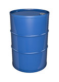 Blue oil drum Royalty Free Stock Images