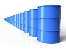 Blue oil drum Stock Photos