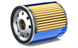 BLUE OIL FILTER HALF CUT Royalty Free Stock Photo