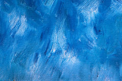 Blue Oil Paint Background Stock Photo