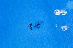 Blue oil painted ship deck abstract macro background high quality prints.  royalty free stock images