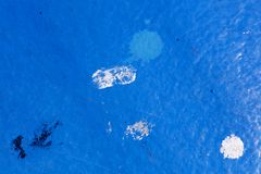 Blue oil painted ship deck abstract macro background high quality prints.  stock images