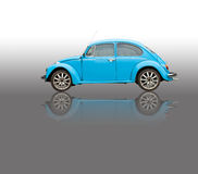 Blue old car isolated picture Royalty Free Stock Image