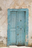Blue old door Royalty Free Stock Images
