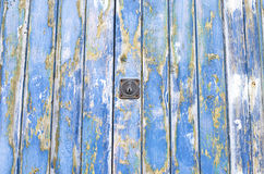 Blue old door of wood texture. Royalty Free Stock Image